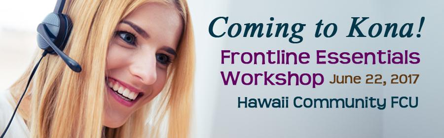 2017 Frontline Essentials Workshop -  Kona