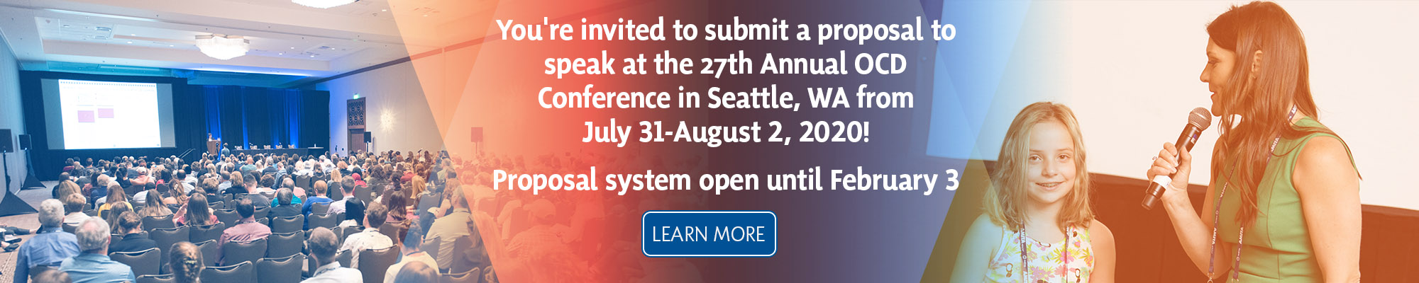 Submit a proposal for the 27th Annual OCD Conference. July 31-August 2, 2020 in Seattle, WA
