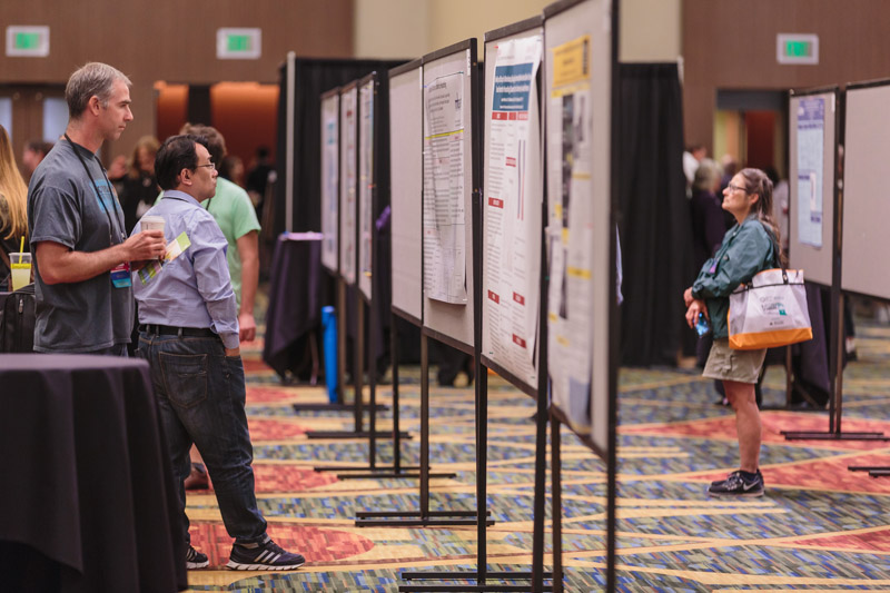Visit the exhibit hall - poster presentations