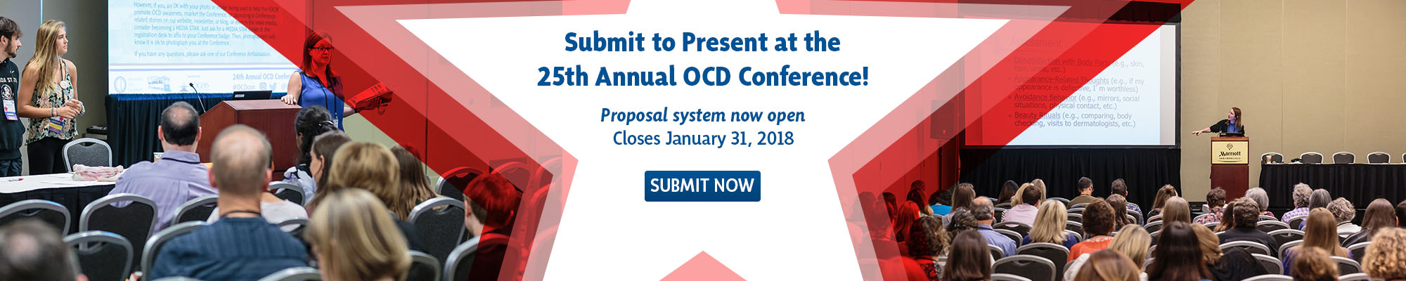 Submit a Proposal for the 25th Annual OCD Conference