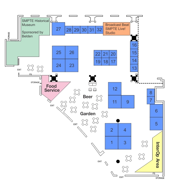 SMPTE 2016 Centennial Hall Map Oct 21 Final