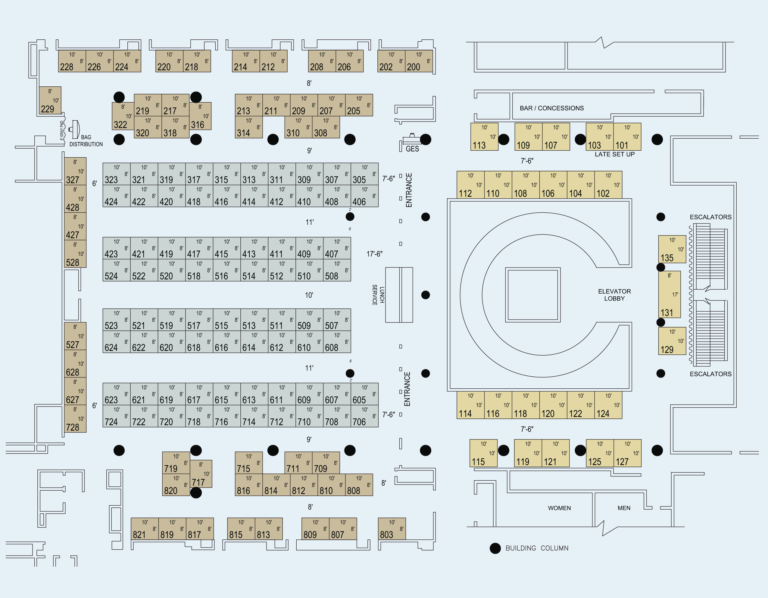 PGA71 Exhibitor Floor Plan