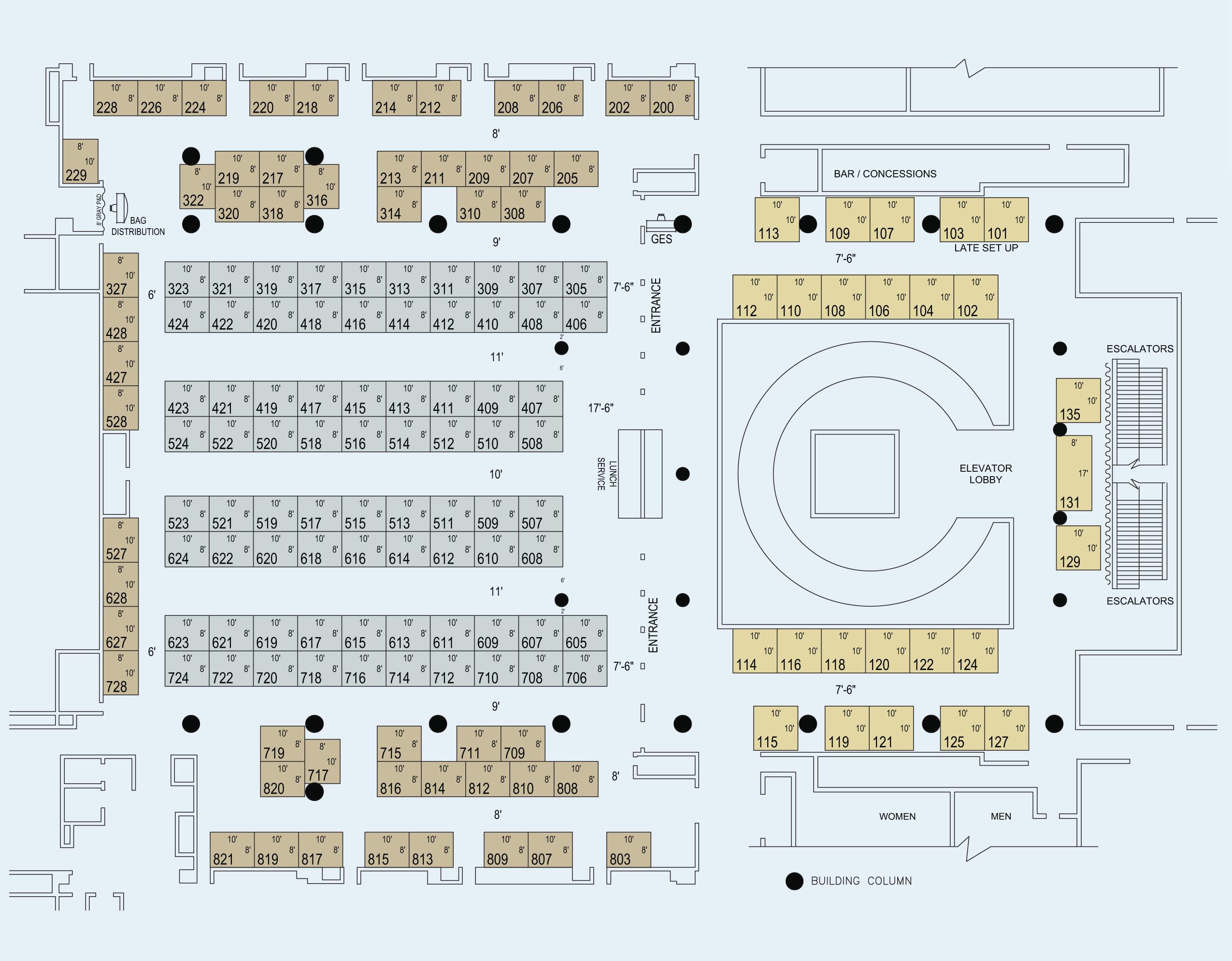PGA71 Exhibitor Floor Plan