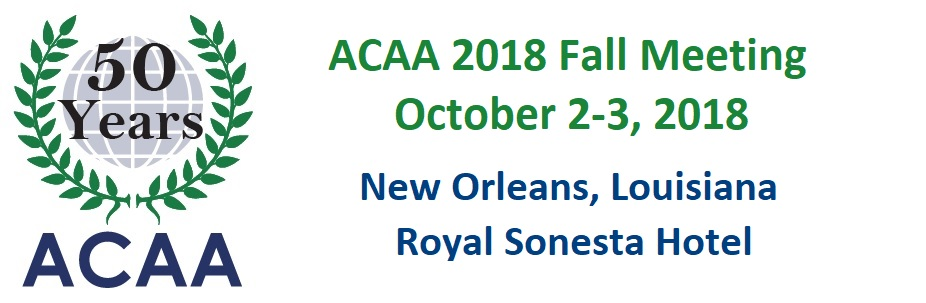 ACAA 2018 Fall Meeting