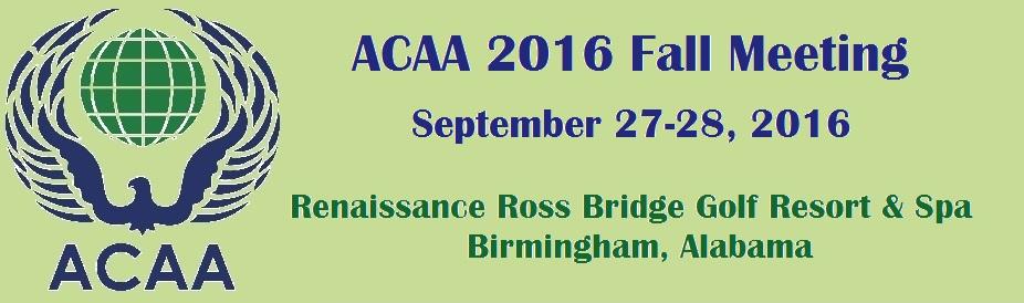 ACAA 2016 Fall Meeting
