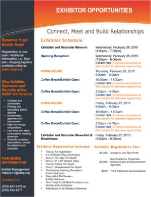 2015 NSBP Exhibitor Schedule