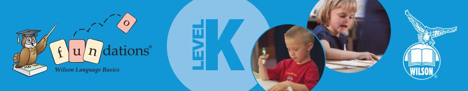 Fundations Level K Workshop / 1617-1CC45CBC