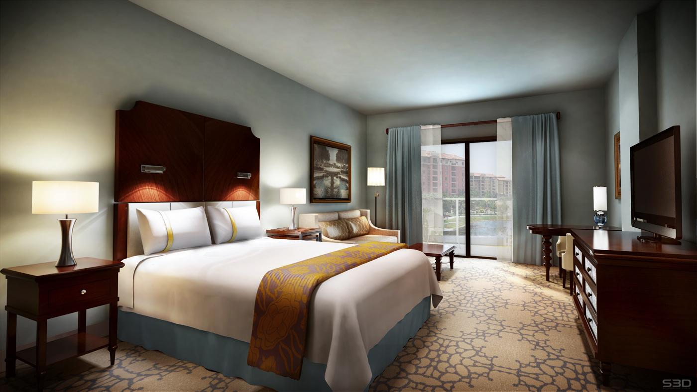 Wyndham-Grand-Orlando-Resort-Bonnet-Creek-king-bed