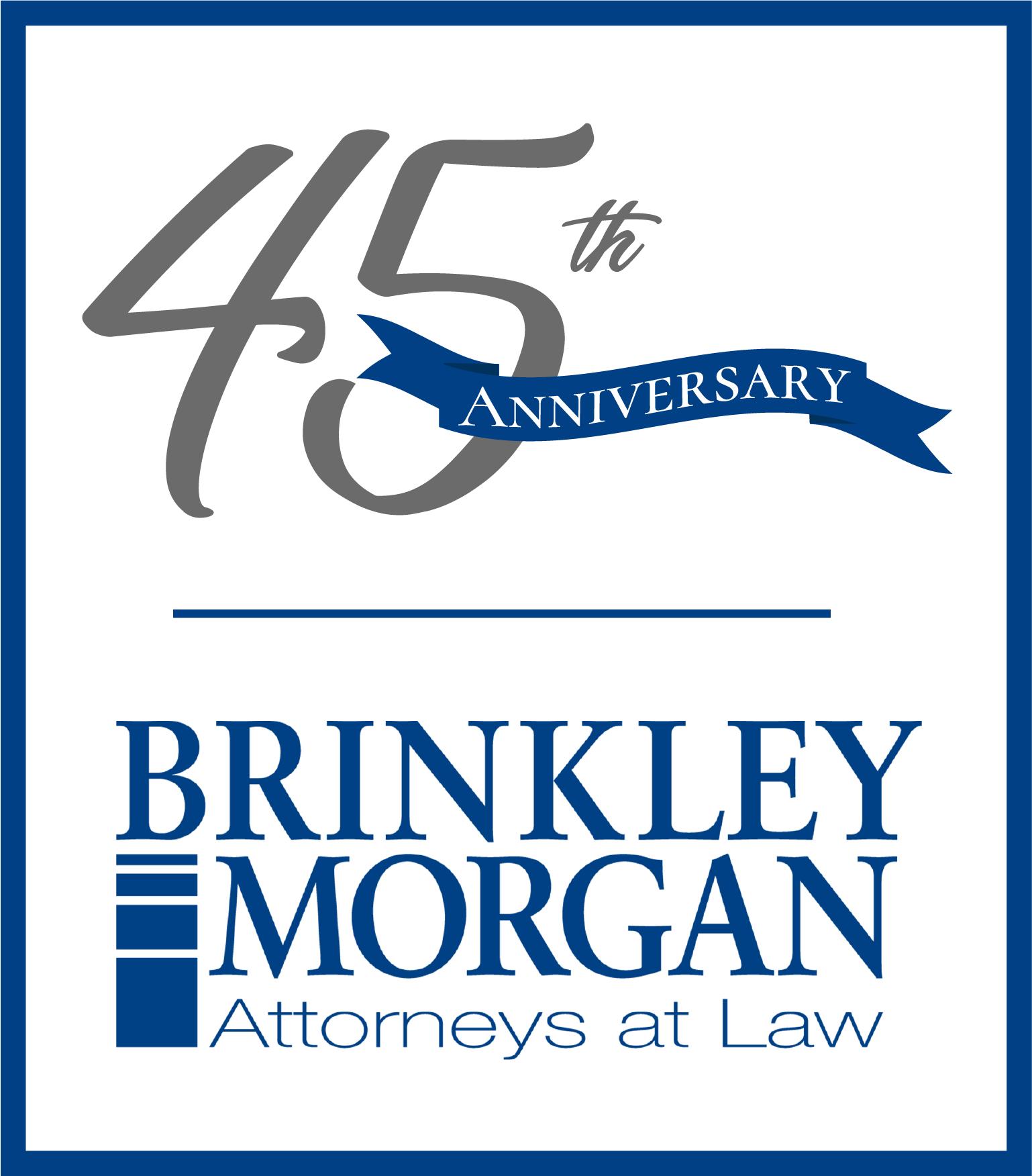 Brinkley Morgan logo - SILVER - BM 45th anni logo 3