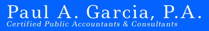 Paul Garcia_Logo Blue Background