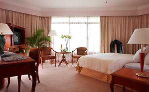 Equatorial hotel room