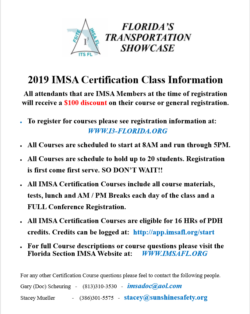 IMSA Class Info 1