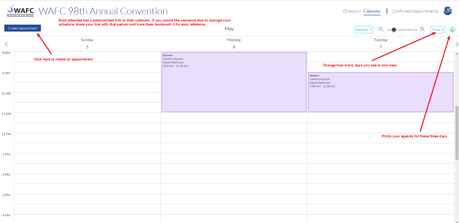 Business Meeting Calendar Overview