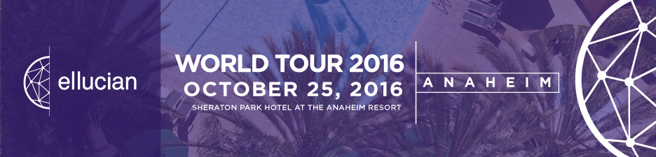 Ellucian World Tour Anaheim