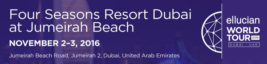 Ellucian World Tour Dubai