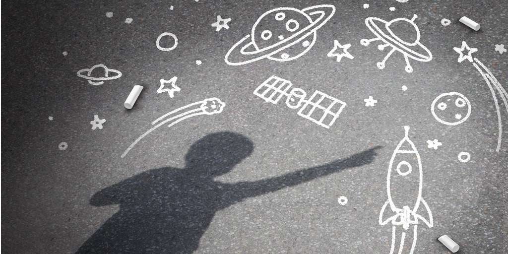 child's drawing of space