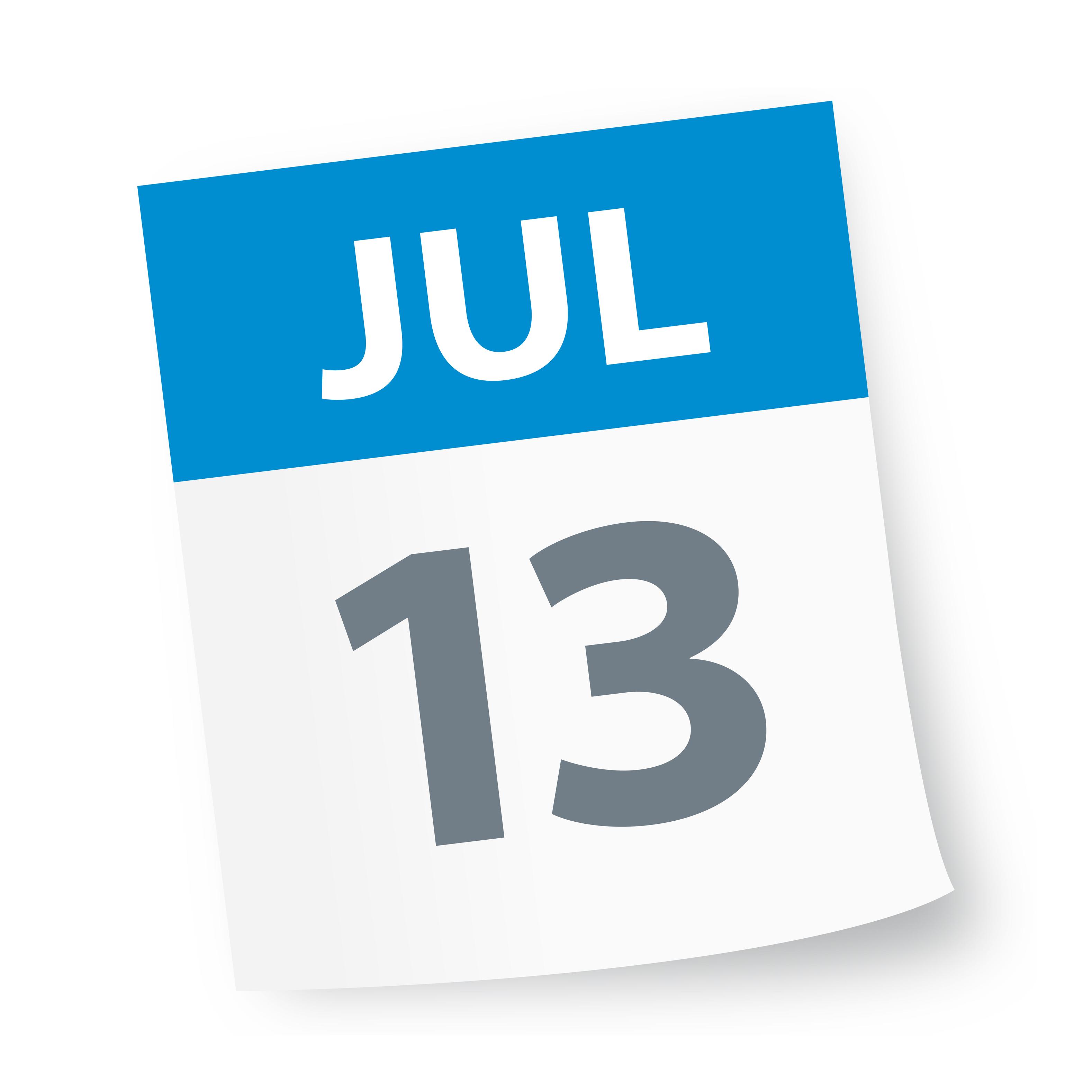July_13_date_blue_calendar