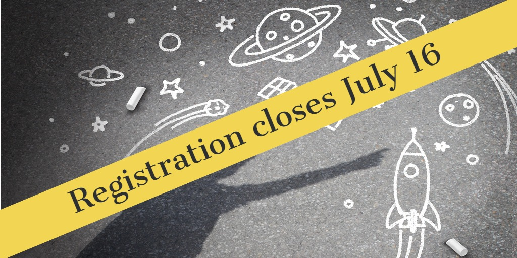 child's chalk drawing of space