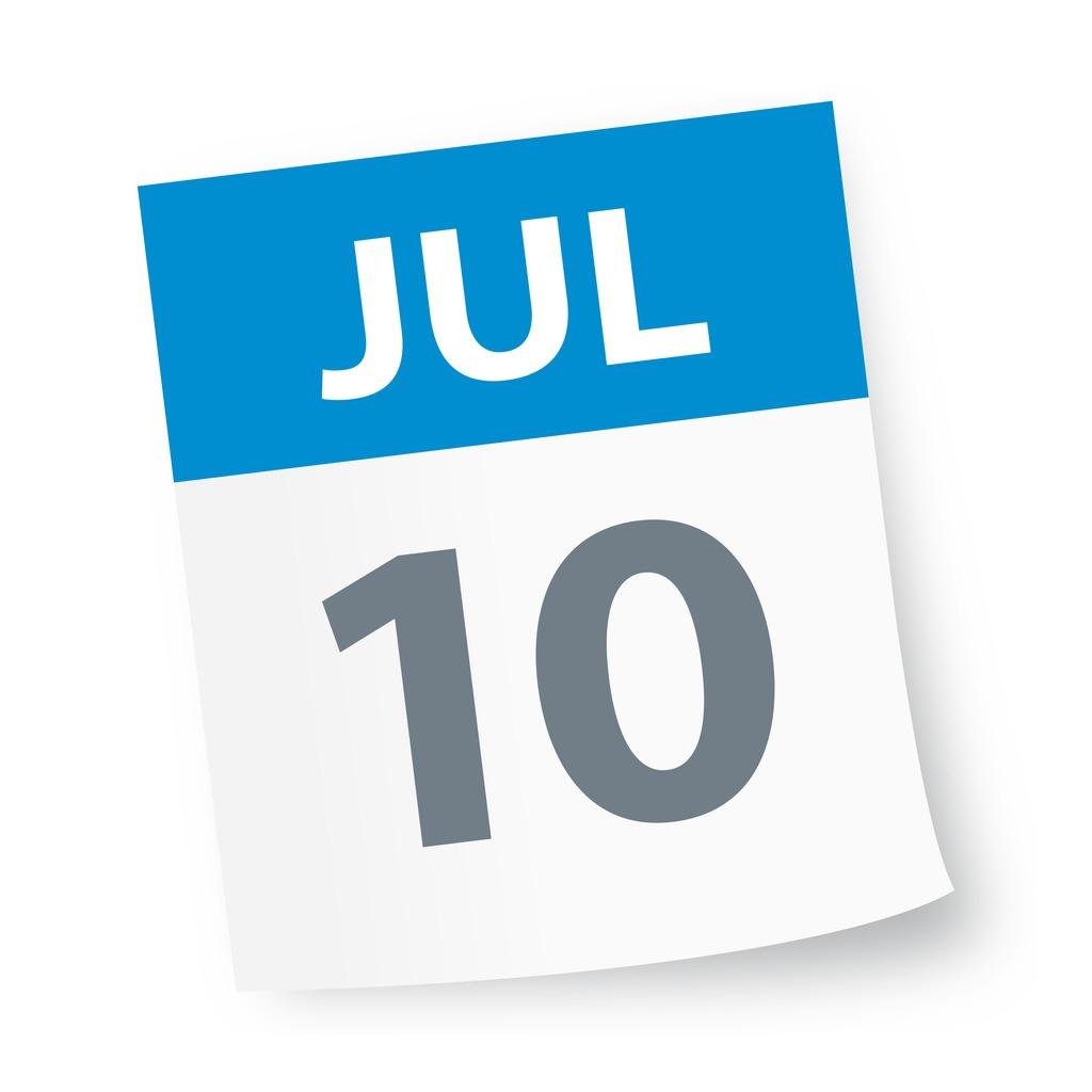 july_10_date_blue_calendar