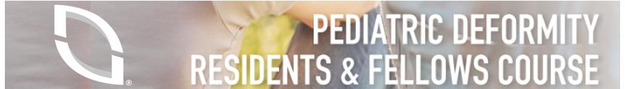 2018 Pediatric Deformity Residents & Fellows Course