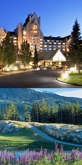 The stunning Fairmont Chateau Whistler