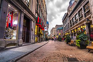 Old Port cobblestone streets