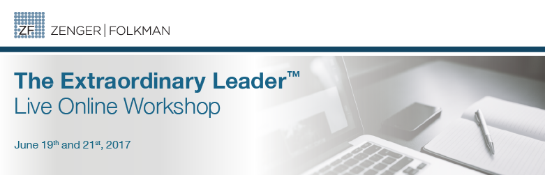 The Extraordinary Leader™ Live Online Workshop, June 19 & 21, 2017