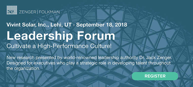 LEADERSHIP FORUM—Cultivate a High-Performance Culture! September 18, 2018,  Lehi, UT
