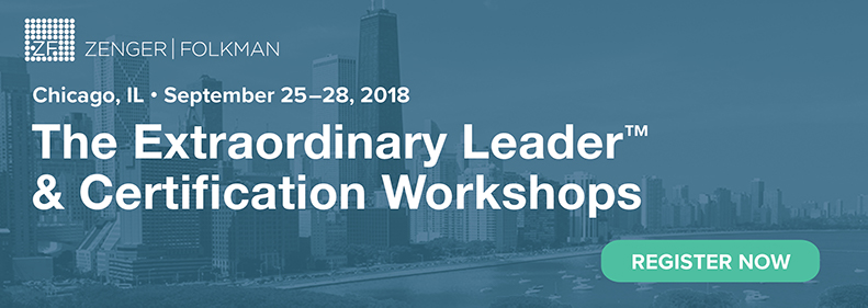 The Extraordinary Leader Workshop & Certification, Sept 25-28, 2018, Northbrook, IL