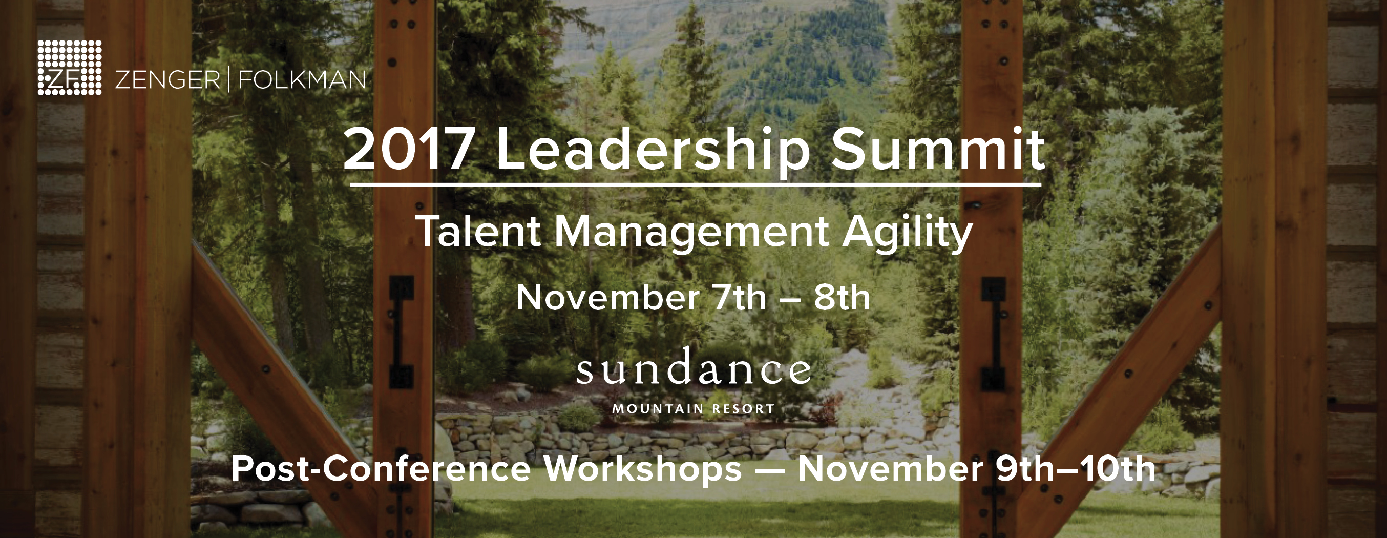 Zenger Folkman's 2017 Leadership Summit
