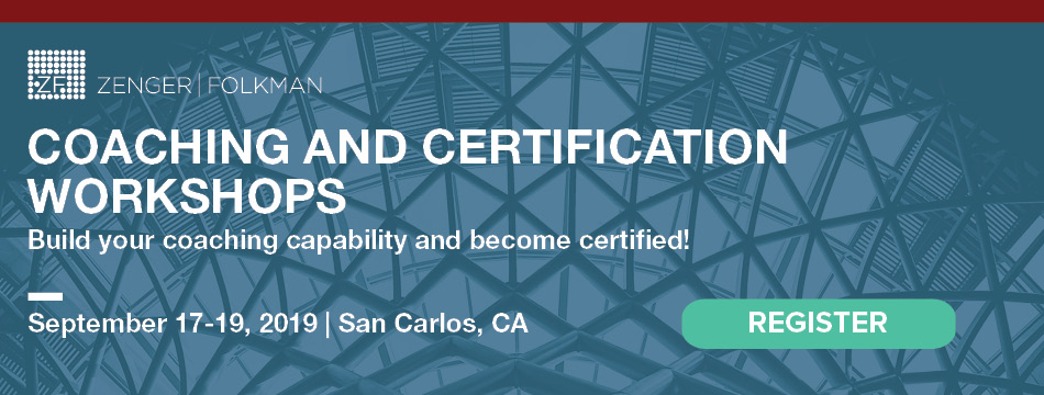 Zenger Folkman Coaching and Certification Workshops, San Carlos, CA, September 17-19, 2019