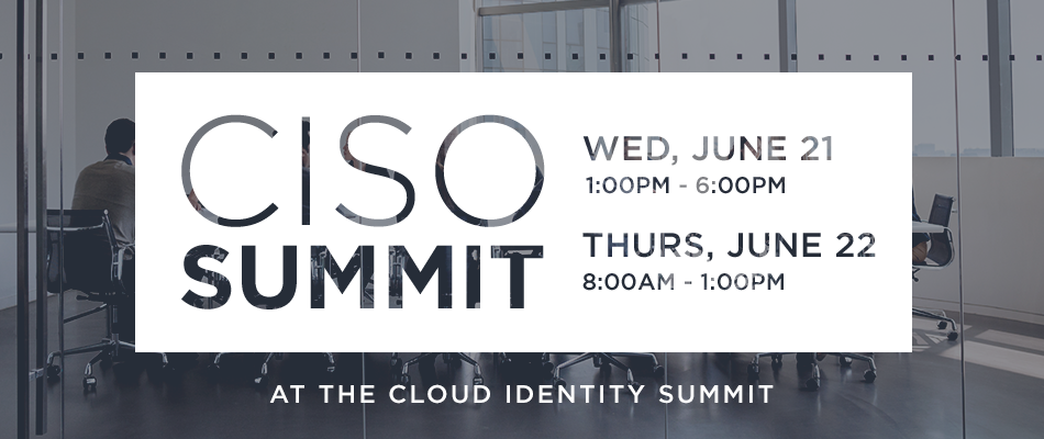 CISO Summit at CIS 2017