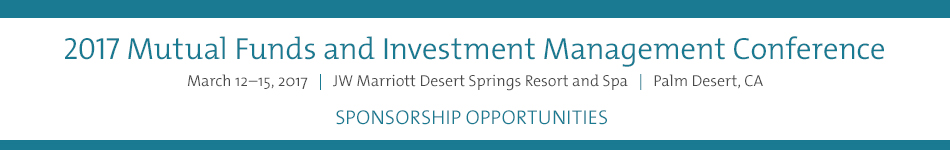 2017 Mutual Funds and Investment Management Conference: Sponsorship and Affiliate Event Registration