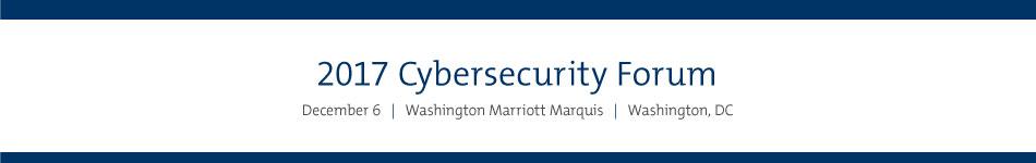 2017 Cybersecurity Forum Sponsorship