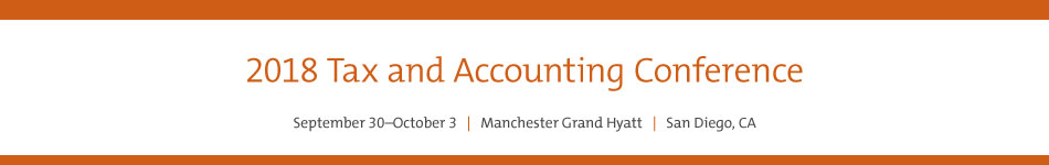 2018 Tax and Accounting Conference