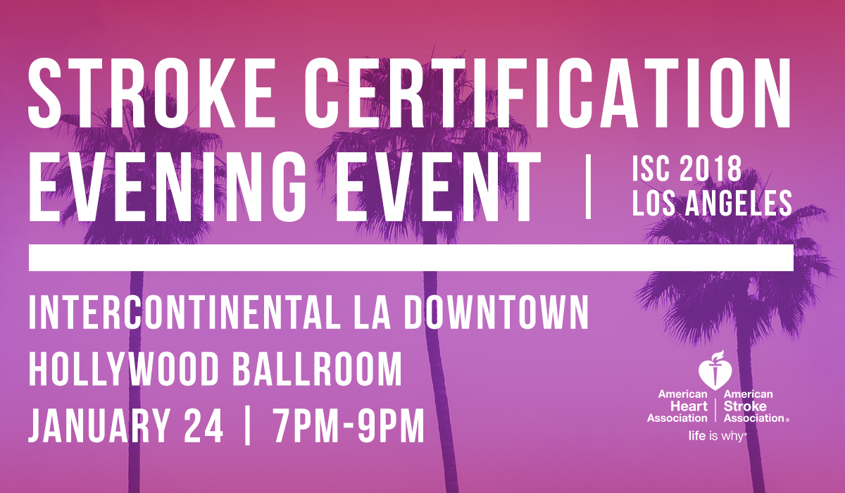 Stroke Certification Evening Event