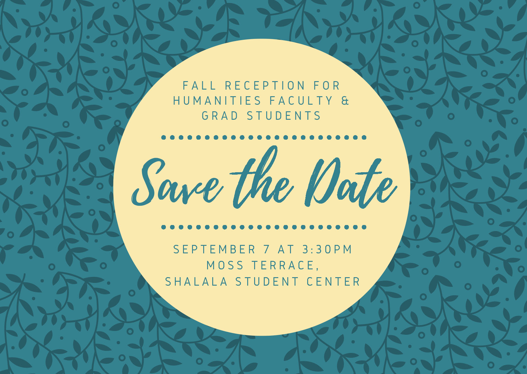 Fall Reception 2018