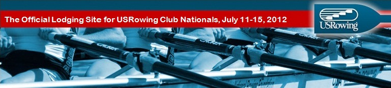 Official Housing Site for the USRowing Club National Championship Regatta July 11-15, 2012