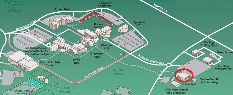 Tallent Campus Map