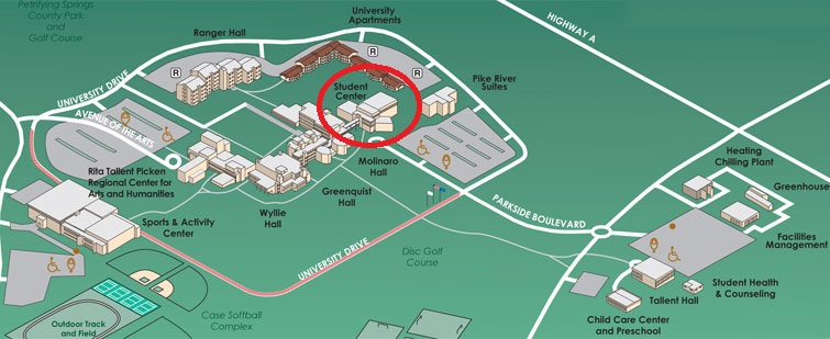 campus map student center