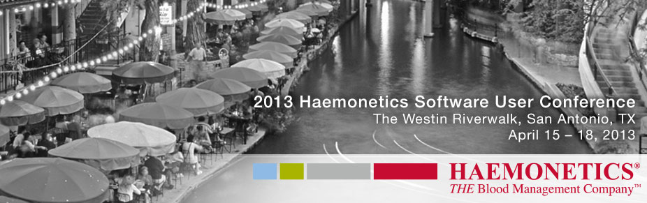 Haemonetics Software User Conference 2013