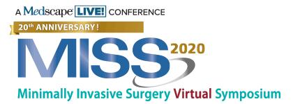 2020 Minimally Invasive Surgery Virtual Symposium (MISS)