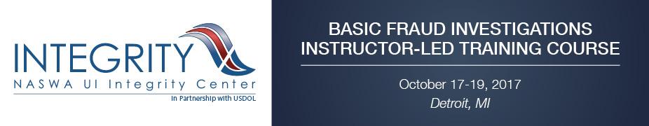 Basic UI Fraud Investigations Instructor-Led Training (Detroit, MI)