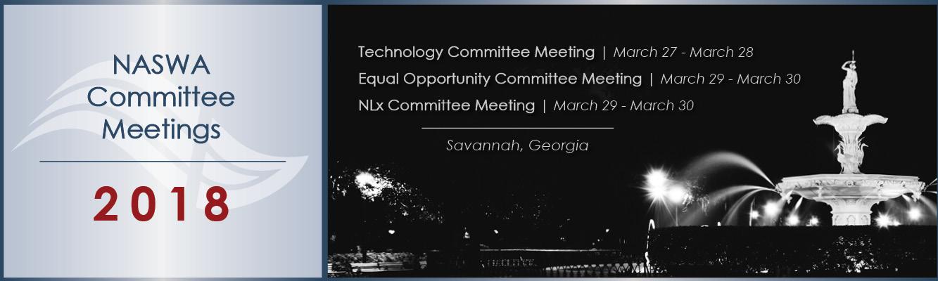 March 2018 Savannah Committee Meetings