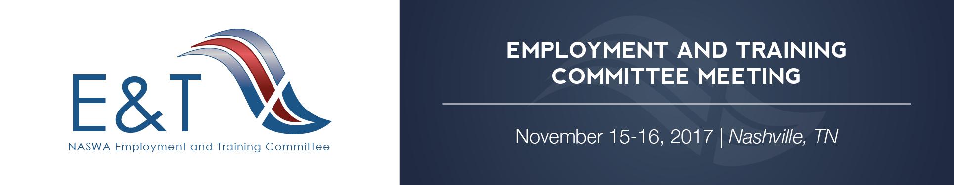 Employment & Training Committee Meeting (Nov. 2017)