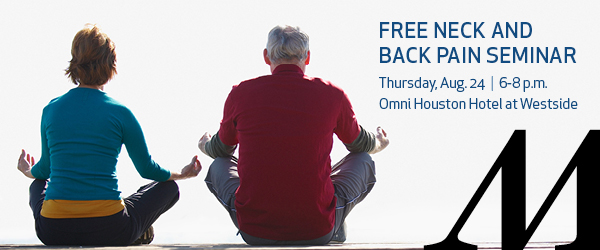 Neck and Back Pain Event - West