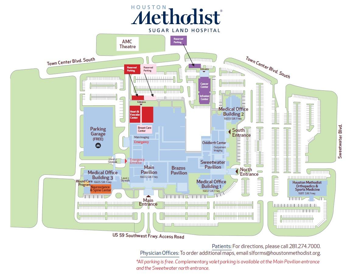 Houston Methodist SugarLand Map