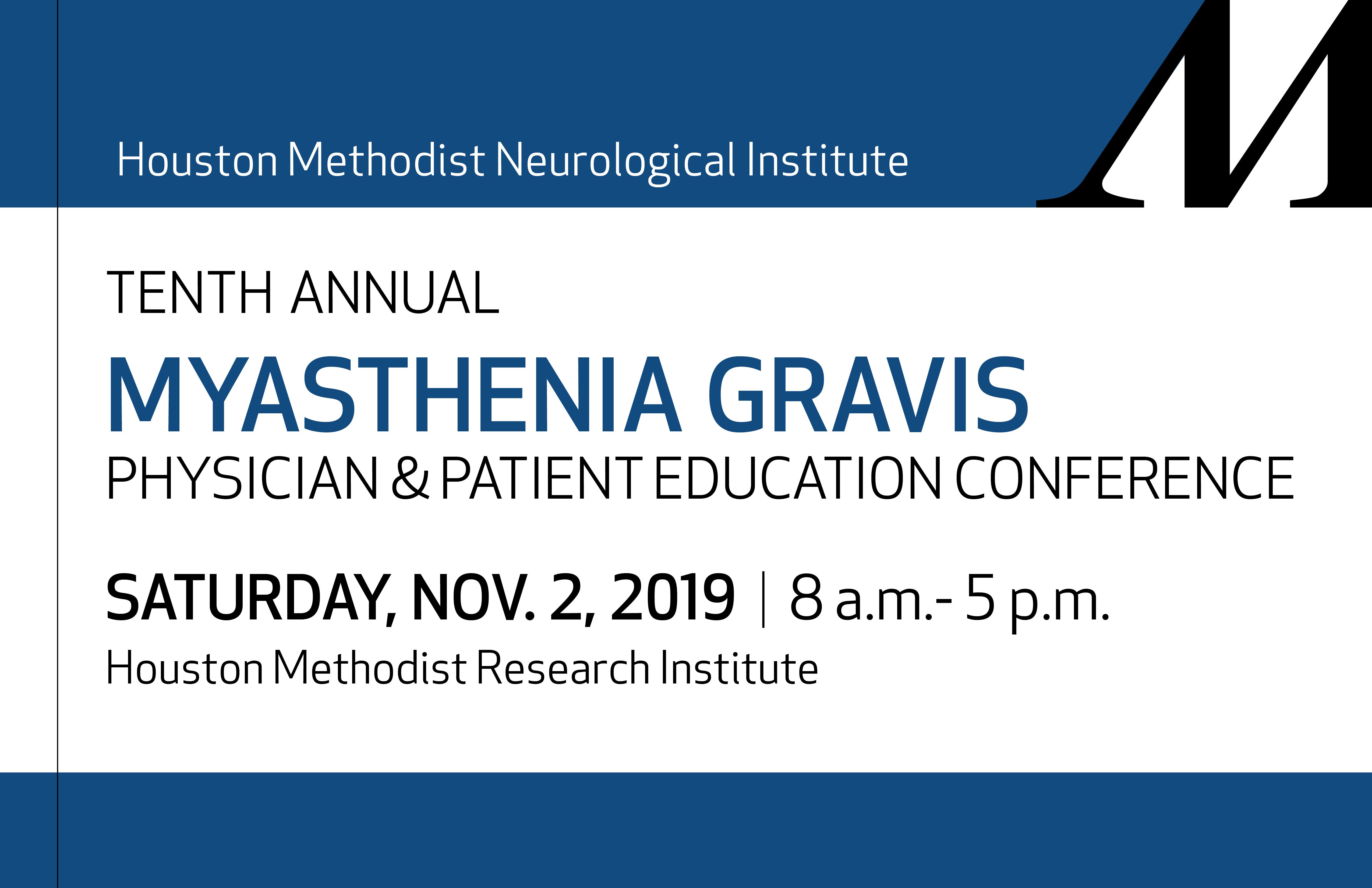 2019 Myasthenia Gravis Conference