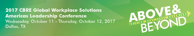 2017 CBRE Global Workplace Solutions Americas Leadership Conference