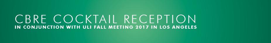 CBRE ULI Fall Meeting 2017